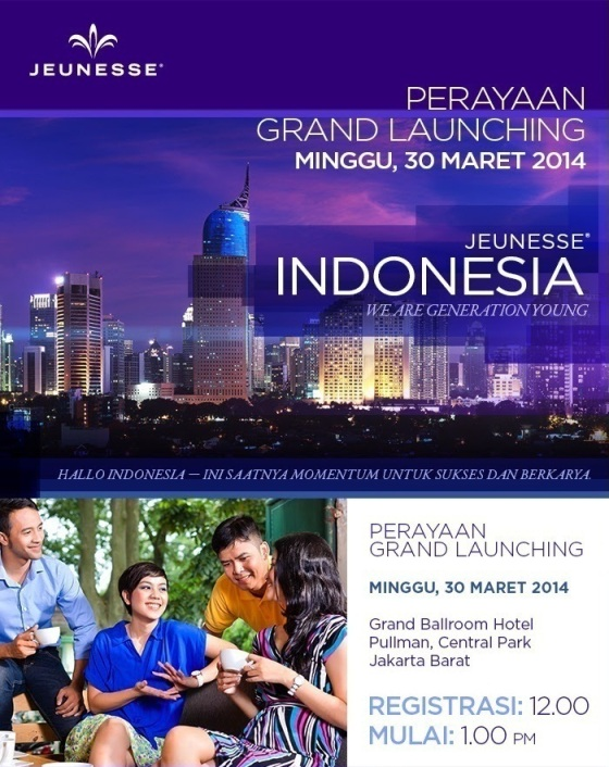 Grand Launching Bisnis eCommerce Jeunesse Indonesia 2014